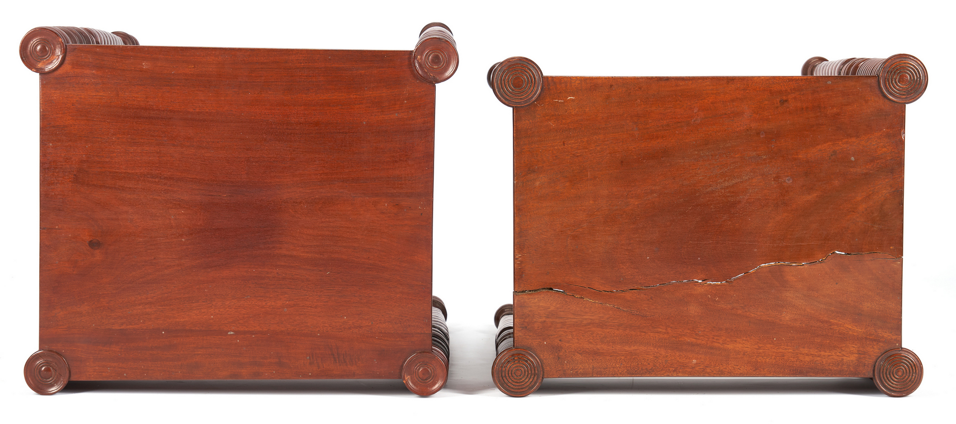 Lot 423: Two Sheraton 2-Drawer Small Work Tables