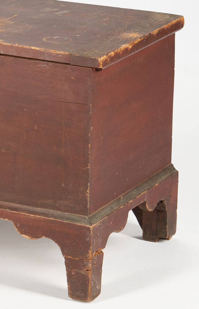 Lot 429: Shaker Kentucky Red Painted Blanket Chest