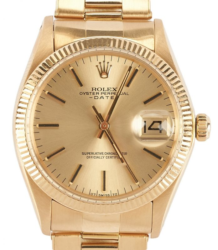 Lot 42: Rolex 18K Date Model Wrist Watch