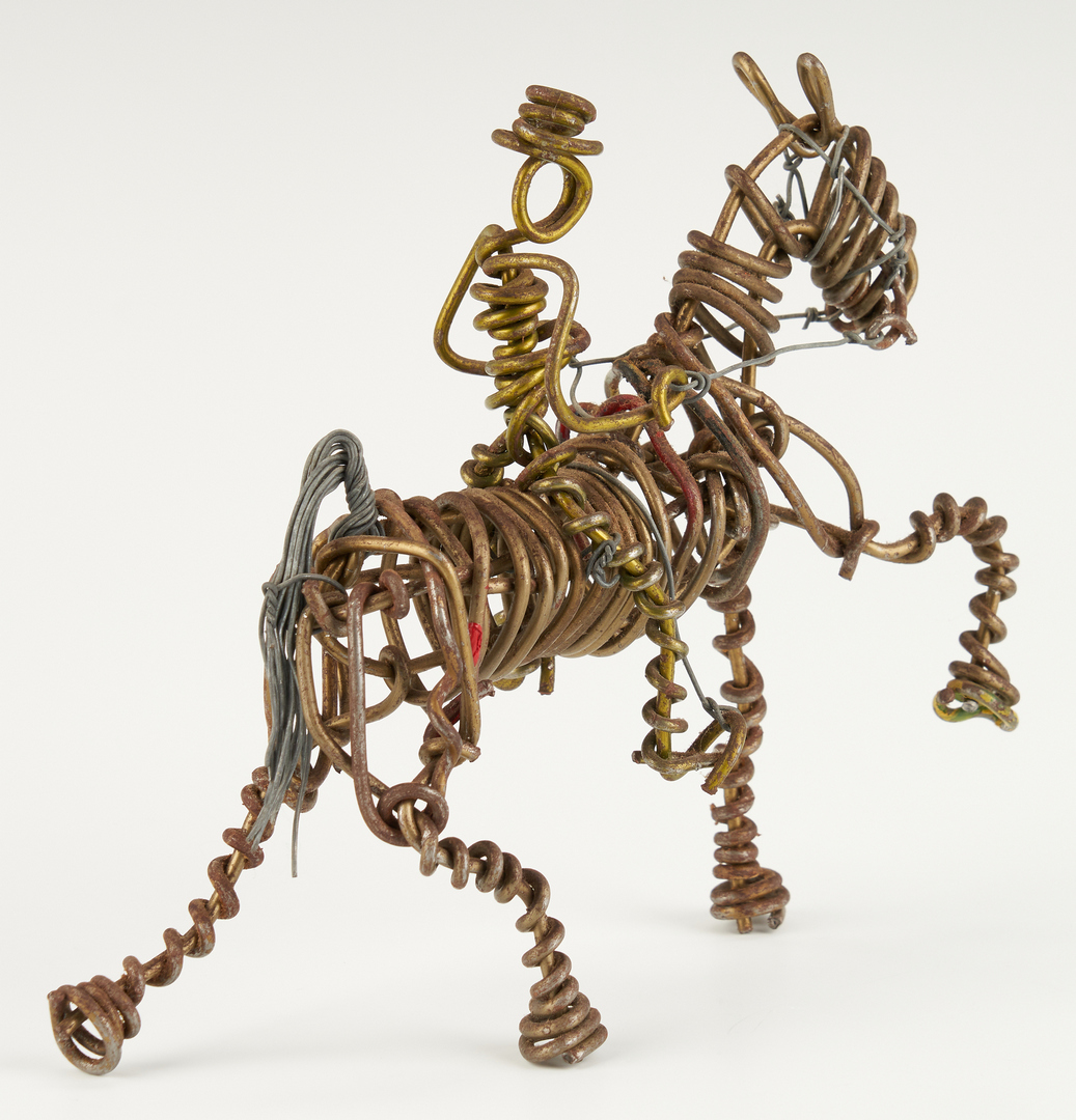 Lot 436: Vannoy Streeter Horse and Rider