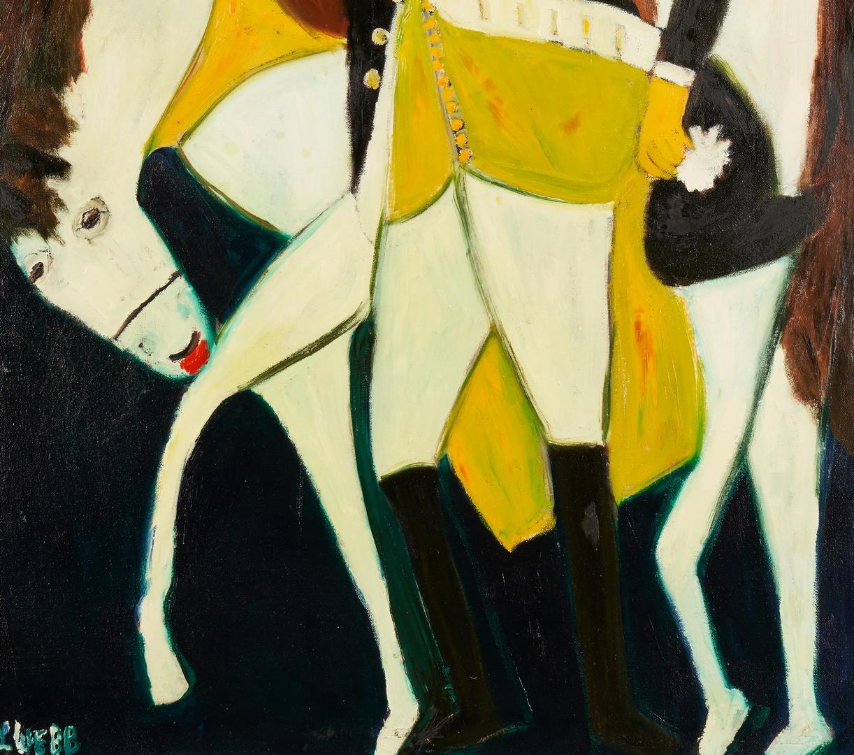 Lot 437: Lilian Webb Outsider Art Portrait, George Washington