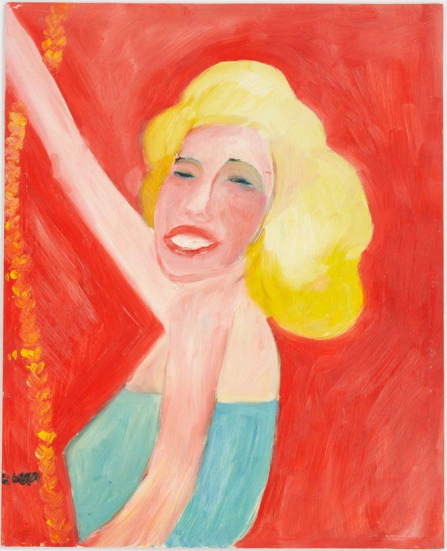 Lot 438: Lilian Webb Outsider Art Portrait Marilyn Monroe