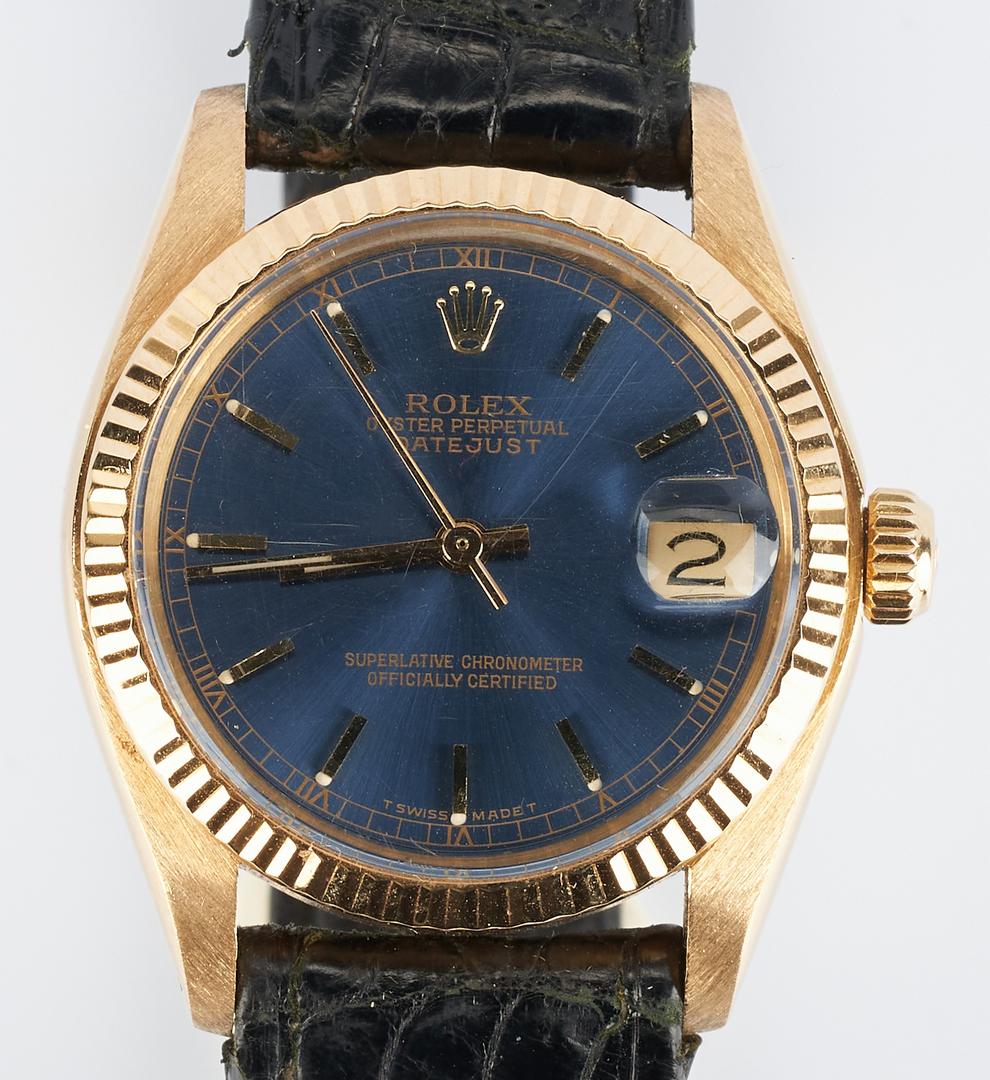 Lot 43: Rolex Medium Datejust 18K Wrist Watch