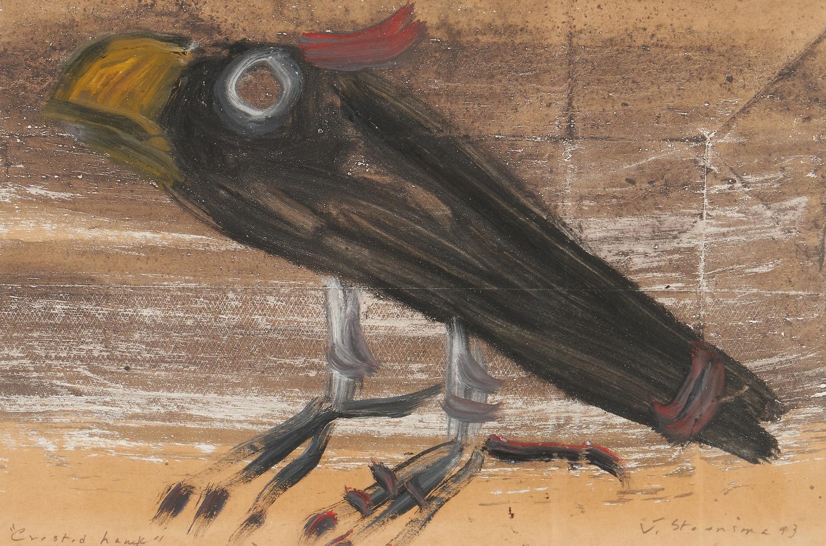 Lot 440: 3  Works on Paper, incl. Steensma, Savitsky & Pee Paw