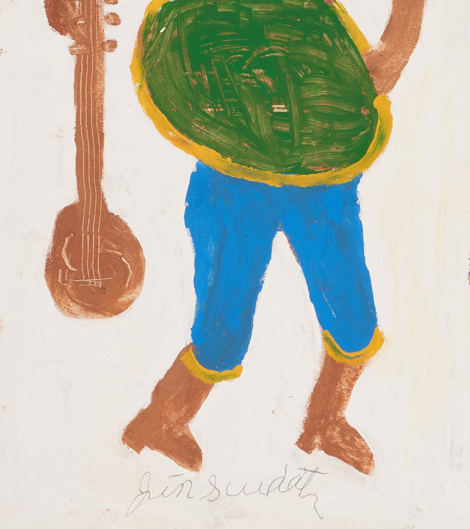 Lot 443: 2 J. L. Sudduth Folk Art Paintings of Females
