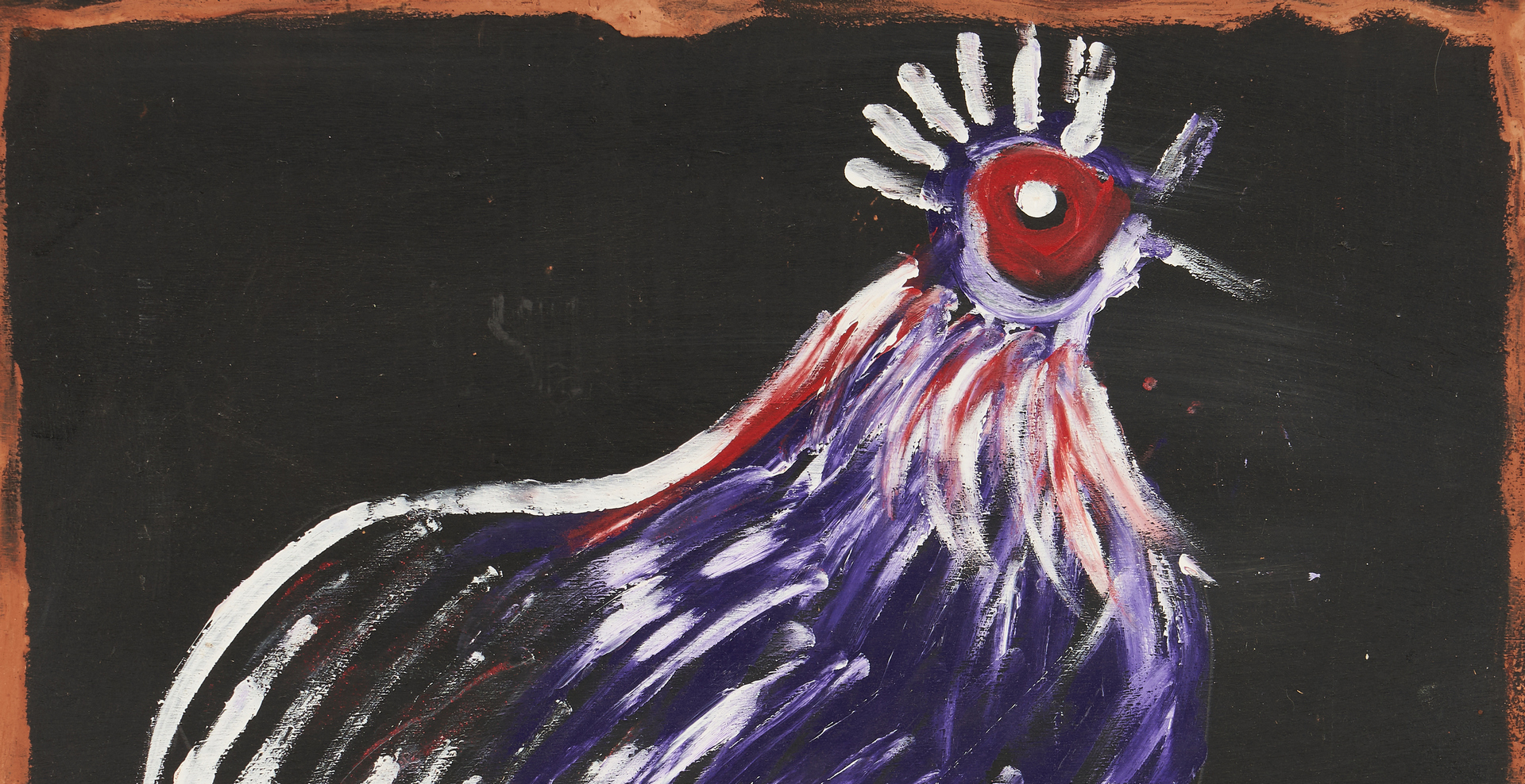 Lot 445: Jimmie Lee Sudduth Outsider Art Painting, Rooster