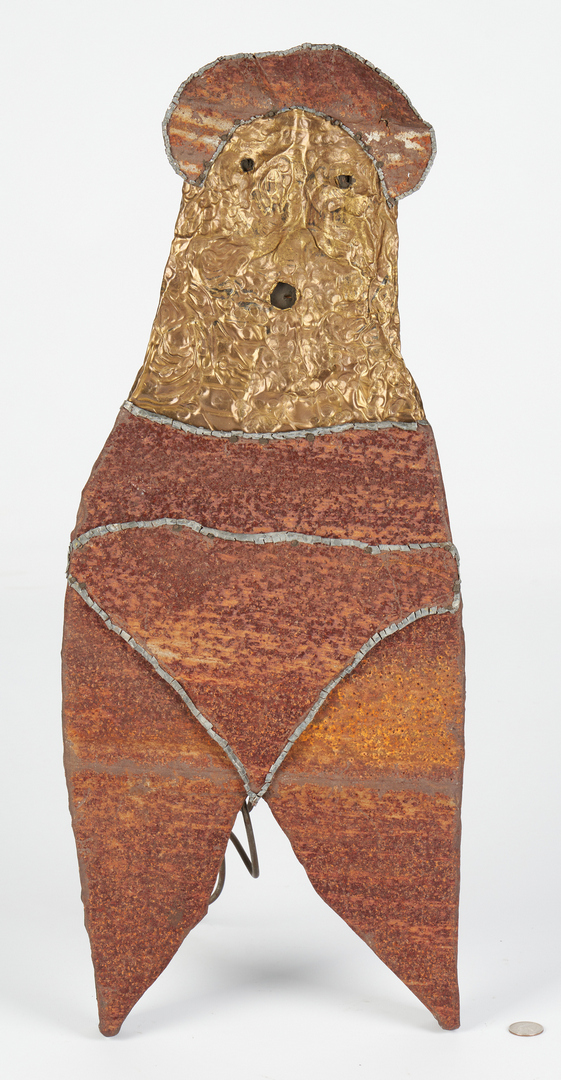 Lot 448: 3 Jerry Coker Outsider Art Human Sculptures
