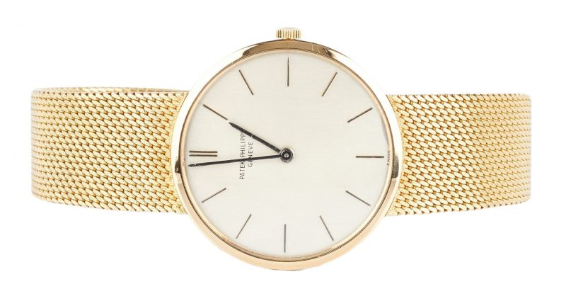 Lot 44: Patek Philippe 18K Yellow Gold Wrist Watch