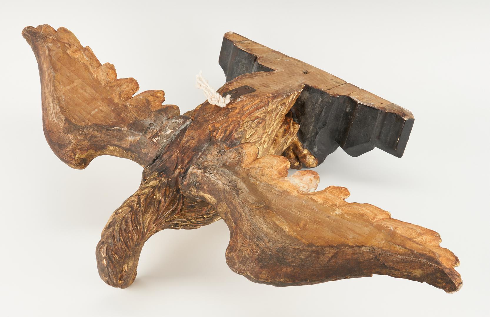 Lot 451: Carved American Gilt Wood Eagle