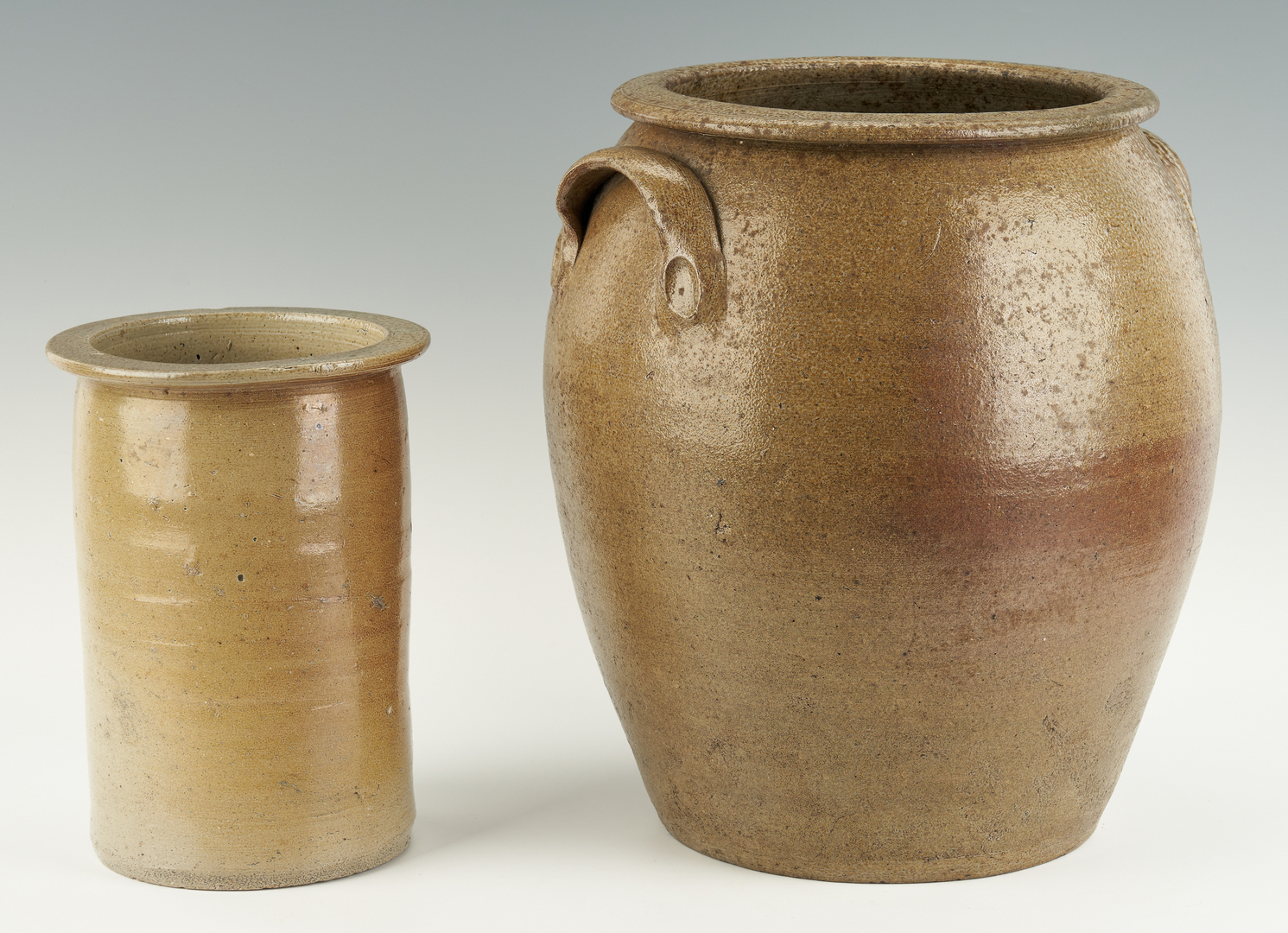 Lot 456: 2 NC Stoneware Pottery Items, incl. Griffin Collection