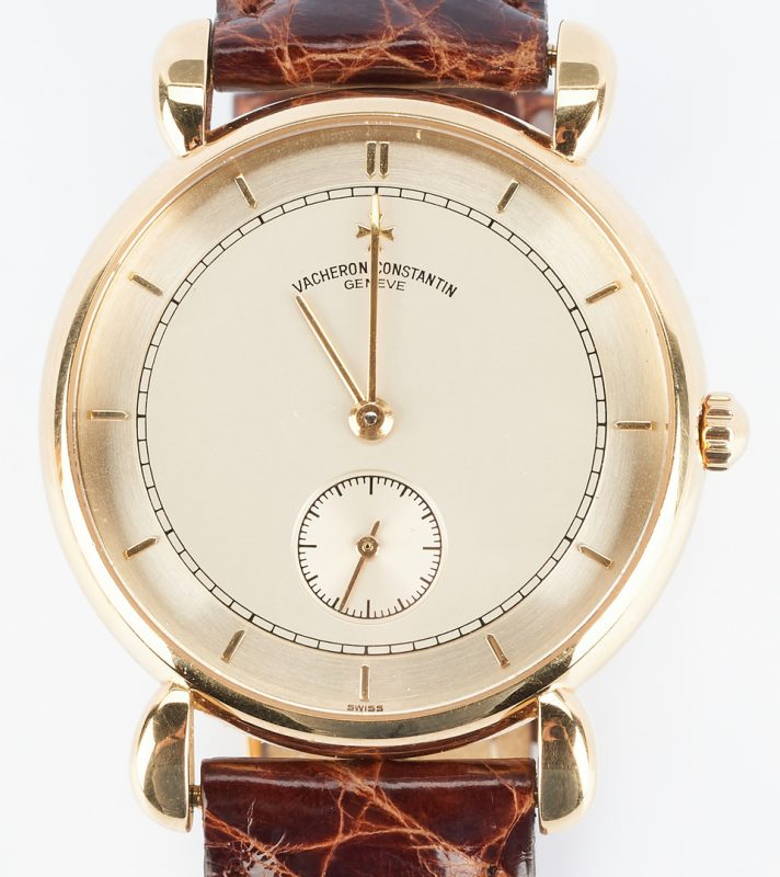 Lot 45: Vacheron 18K Constantin Patrimony Wrist Watch