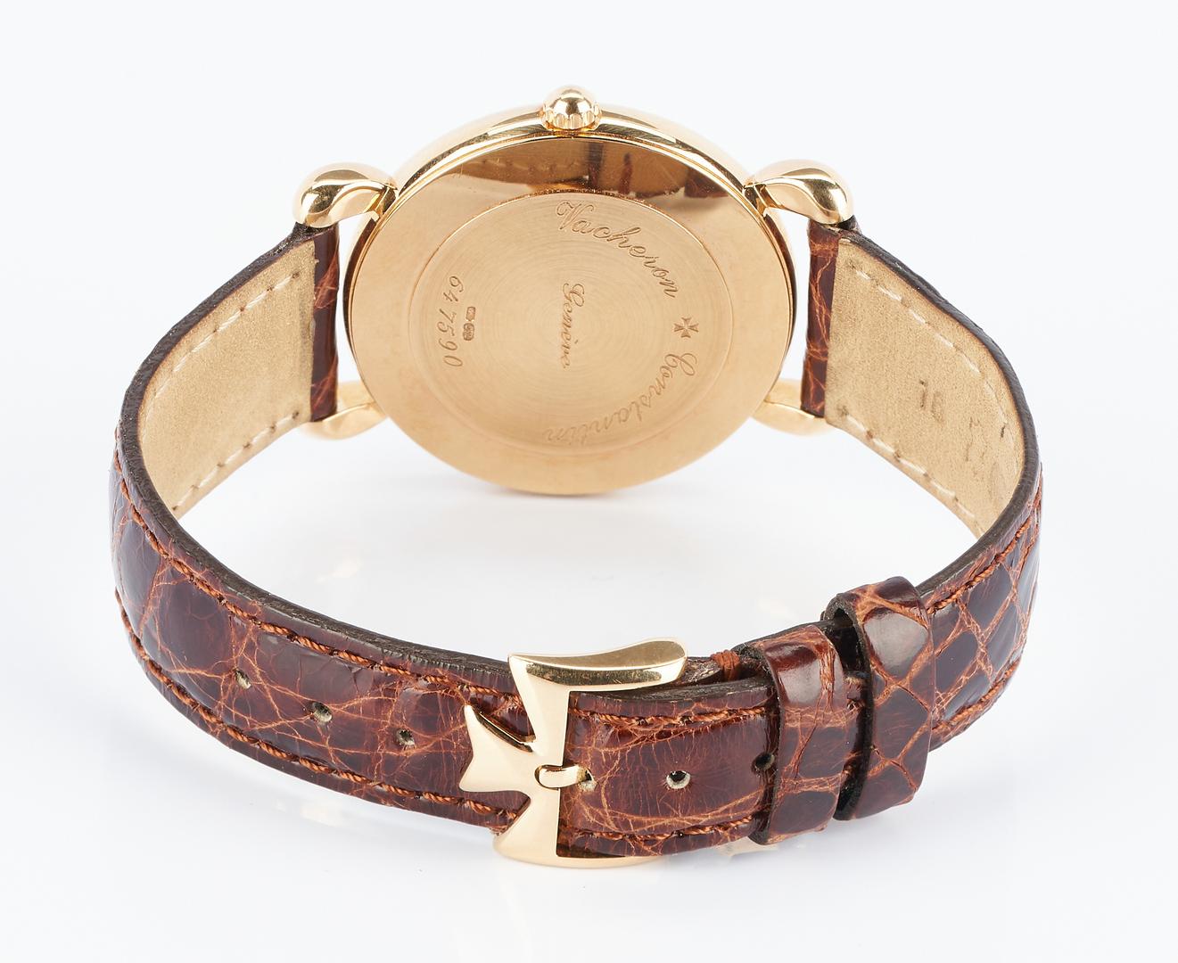 Lot 45: Vacheron 18K Constantin Patrimony Wrist Watch