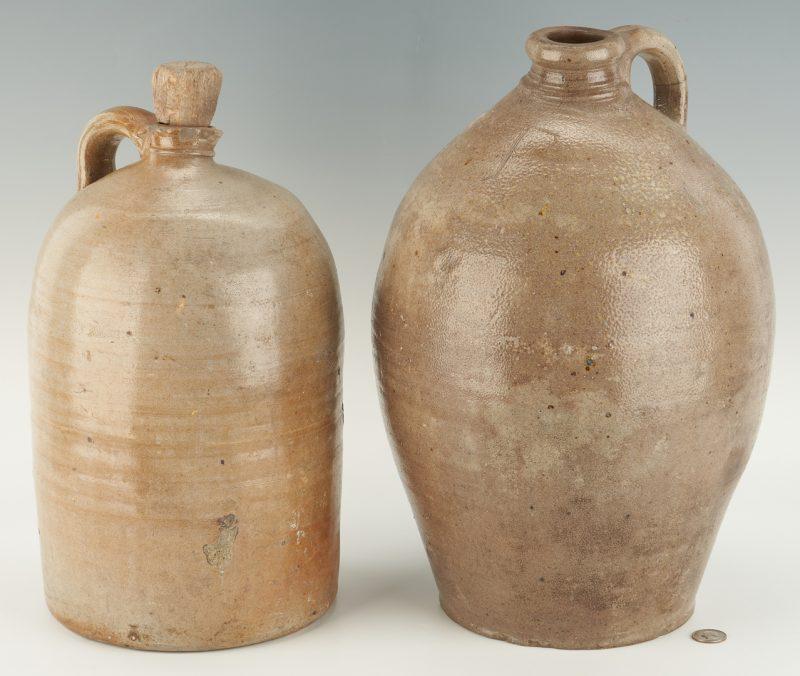 Lot 462: 2 West TN Stoneware Pottery Jugs