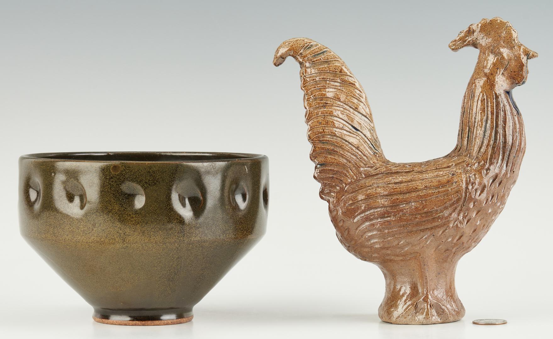 Lot 466: 4 NC Pottery Items, Inc. J.B. Cole, Charlie Moore, Jugtown