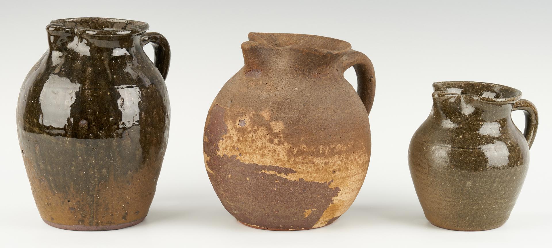 Lot 469: 5 Lanier Meaders, GA Folk Art Pottery Items
