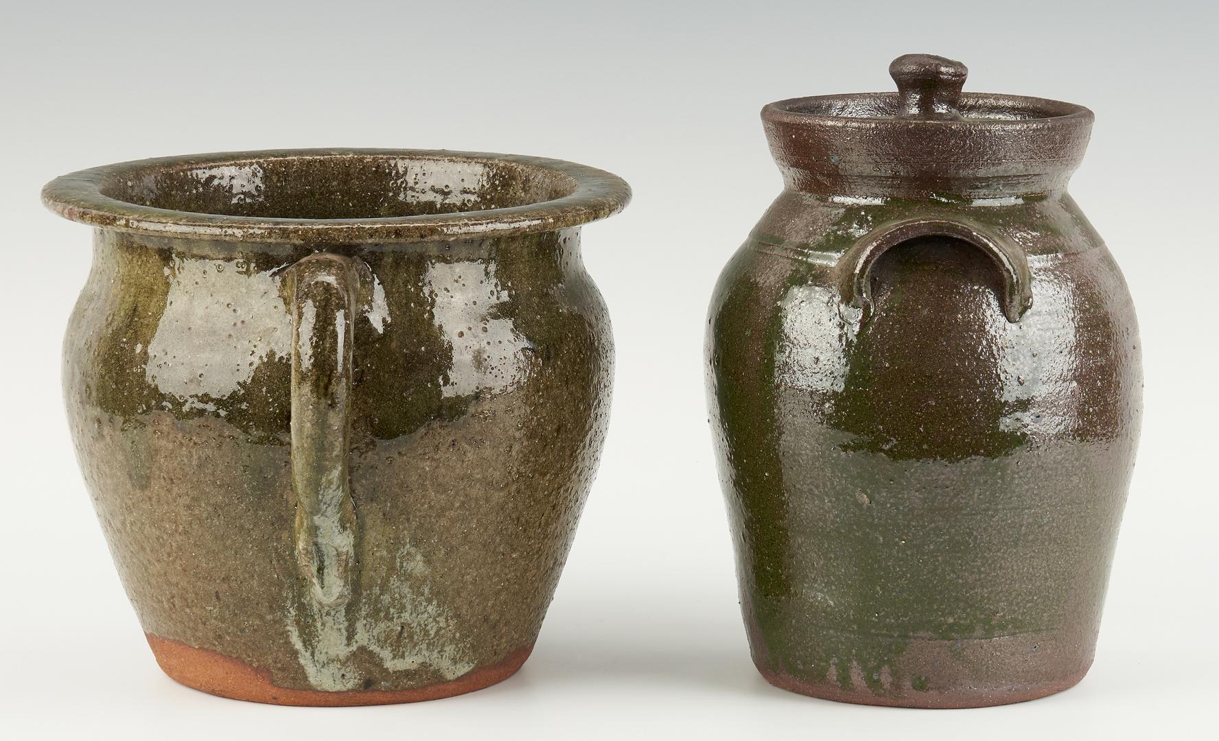 Lot 470: 5 Burlon Craig, NC Folk Art Pottery Items