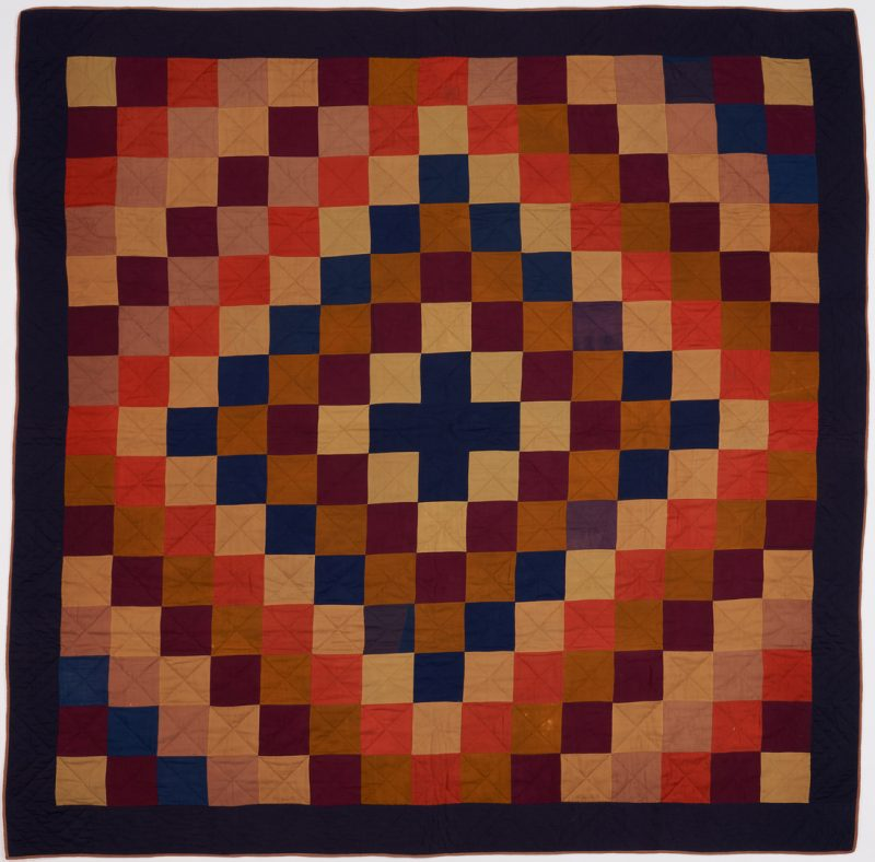 Lot 473: Amish Double Sided Quilt