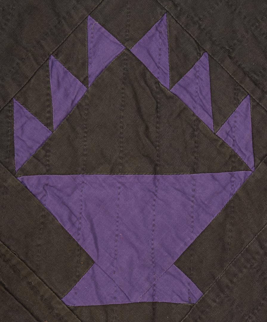 "Lot 475: Amish Basket or ""Hands"" Quilt, multiple colors"