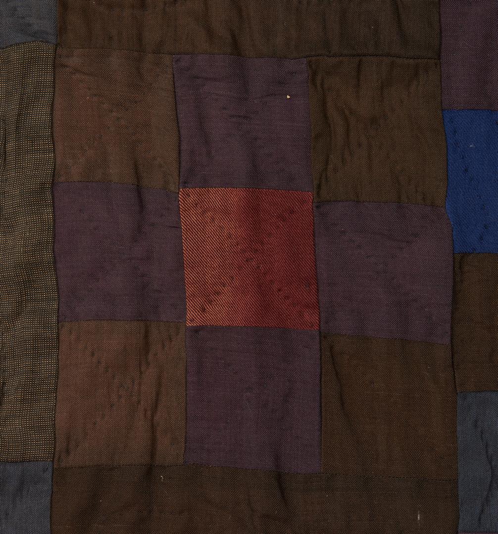 Lot 476: Amish 9 Patch Quilt