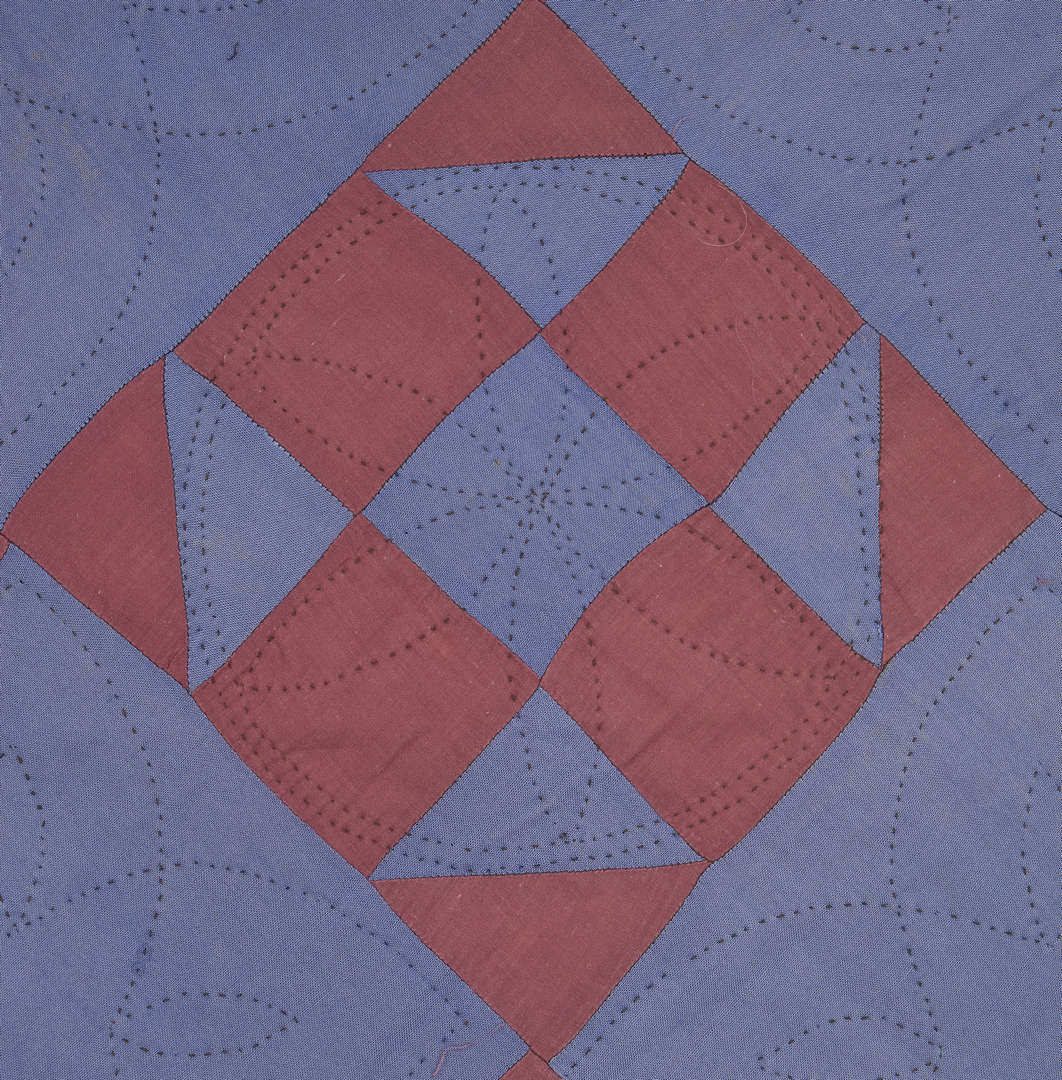 Lot 477: Amish Shoo Fly Quilt