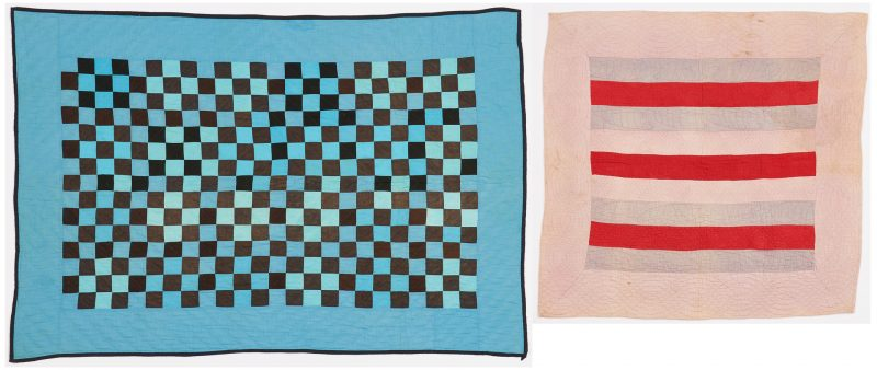 Lot 478: Two Quilts incl. Crib Quilt, possibly Amish