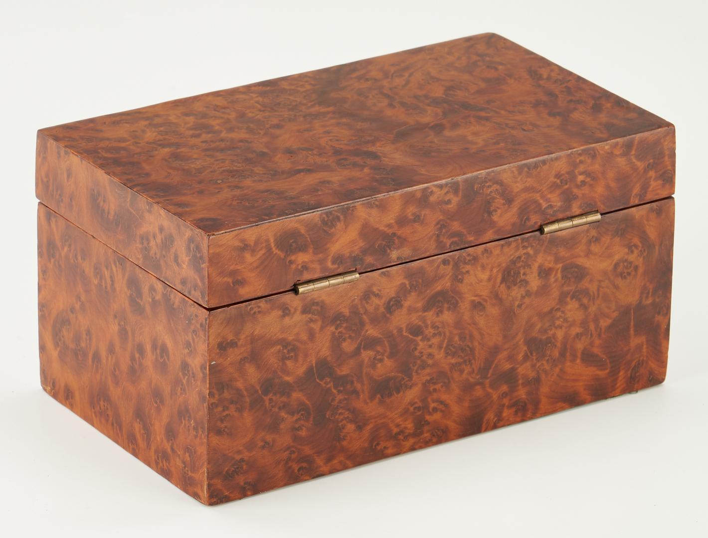 Lot 480: Birdseye Maple & Mahogany Tea Caddy