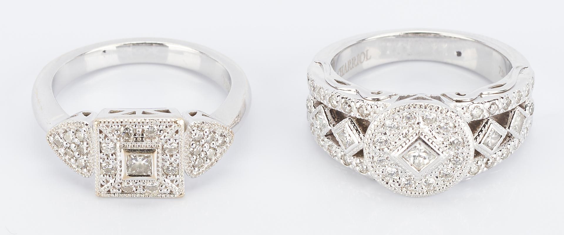 Lot 484: 2 Philippe Charriol Gold & Diamond Rings