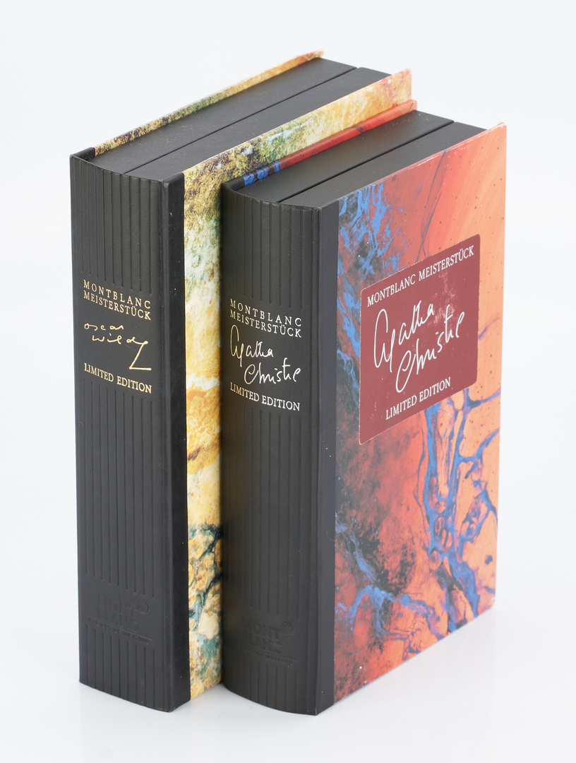 Lot 49: 2 Montblanc Pen Sets with Boxes: Oscar Wilde and Agatha Christie