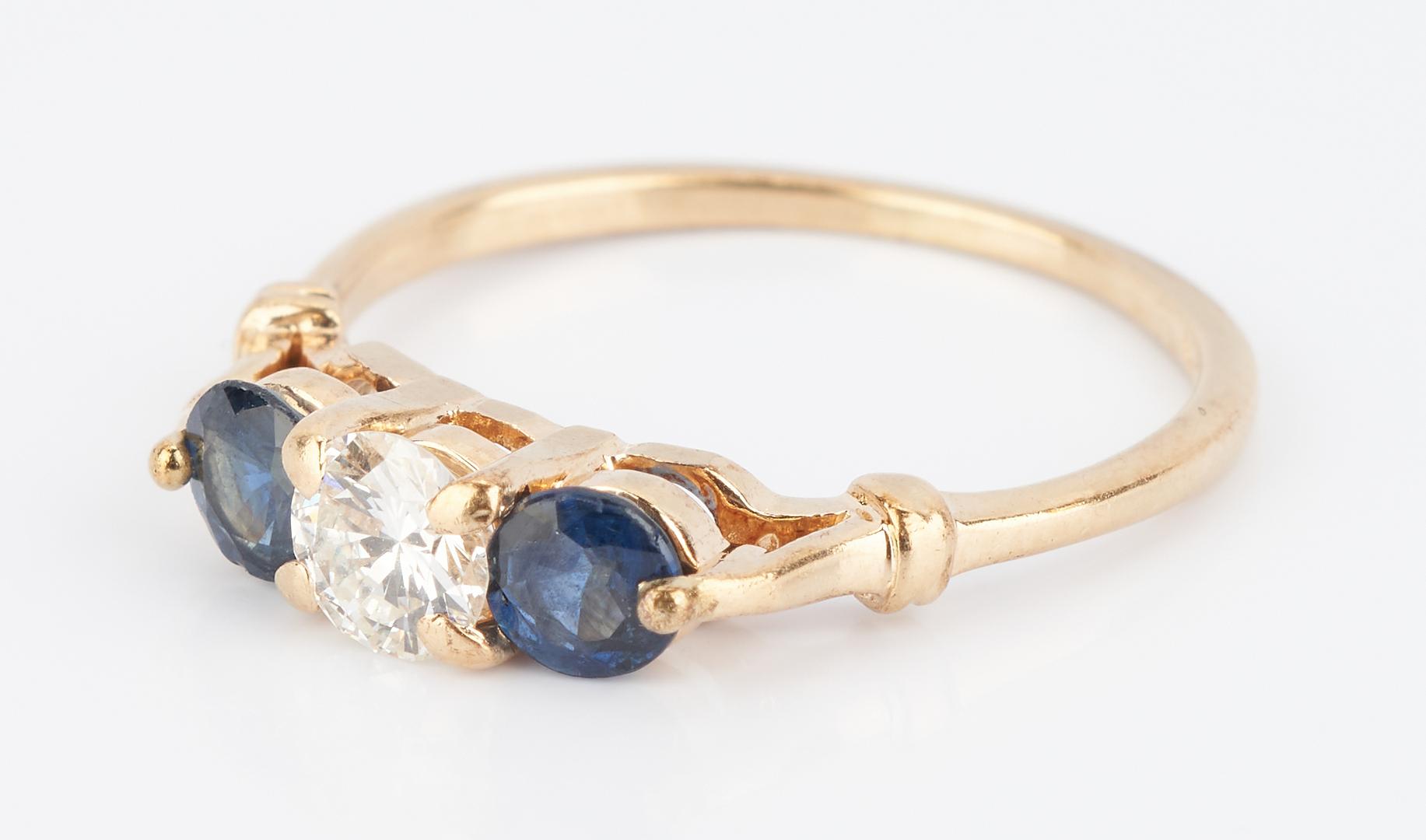 Lot 505: 2 Ladies Egg Pendants and Diamond & Sapphire Ring, 3 items