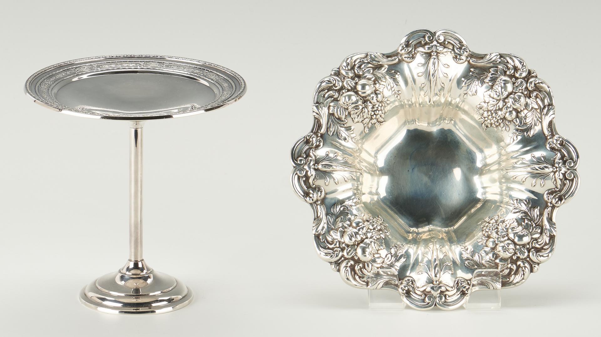 Lot 511: 9 Pcs. Sterling, incl. Francis I Bowl & Cohr Spoons