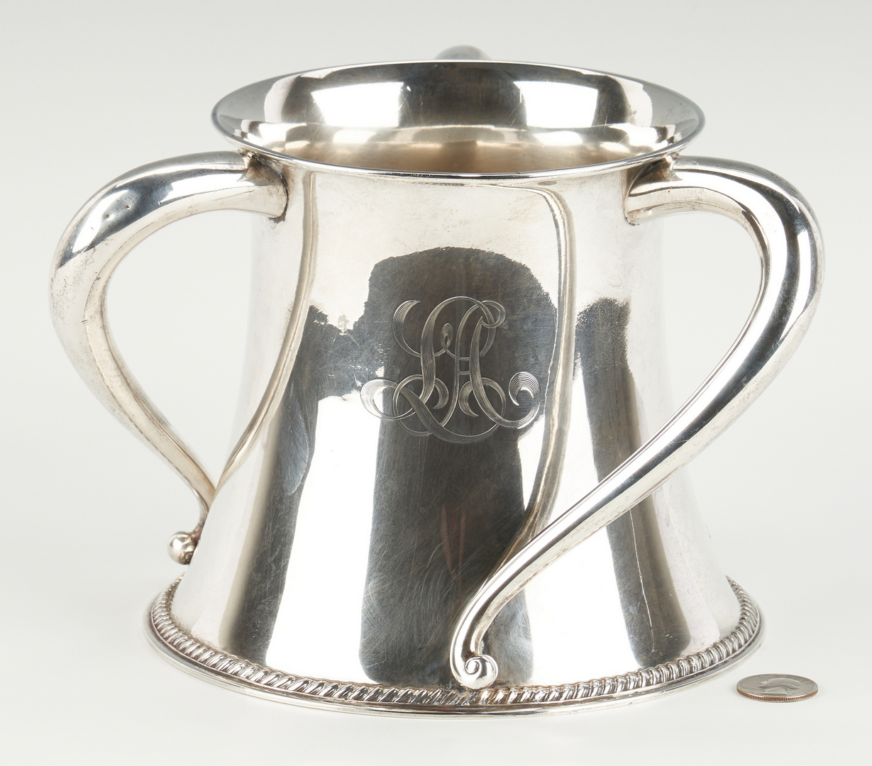 Lot 512: Theo. Starr Sterling Loving Cup or Tyg