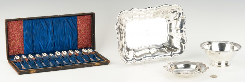 Lot 514: 3 Sterling Bowls & 12 Demitasse Spoons