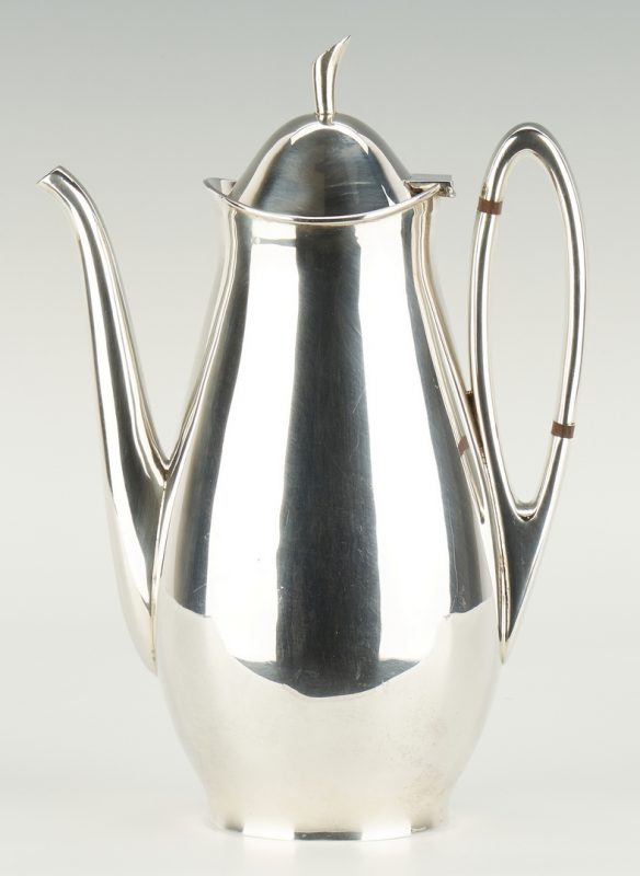 Lot 518: Tango Aceves Sterling Silver Coffee Pot