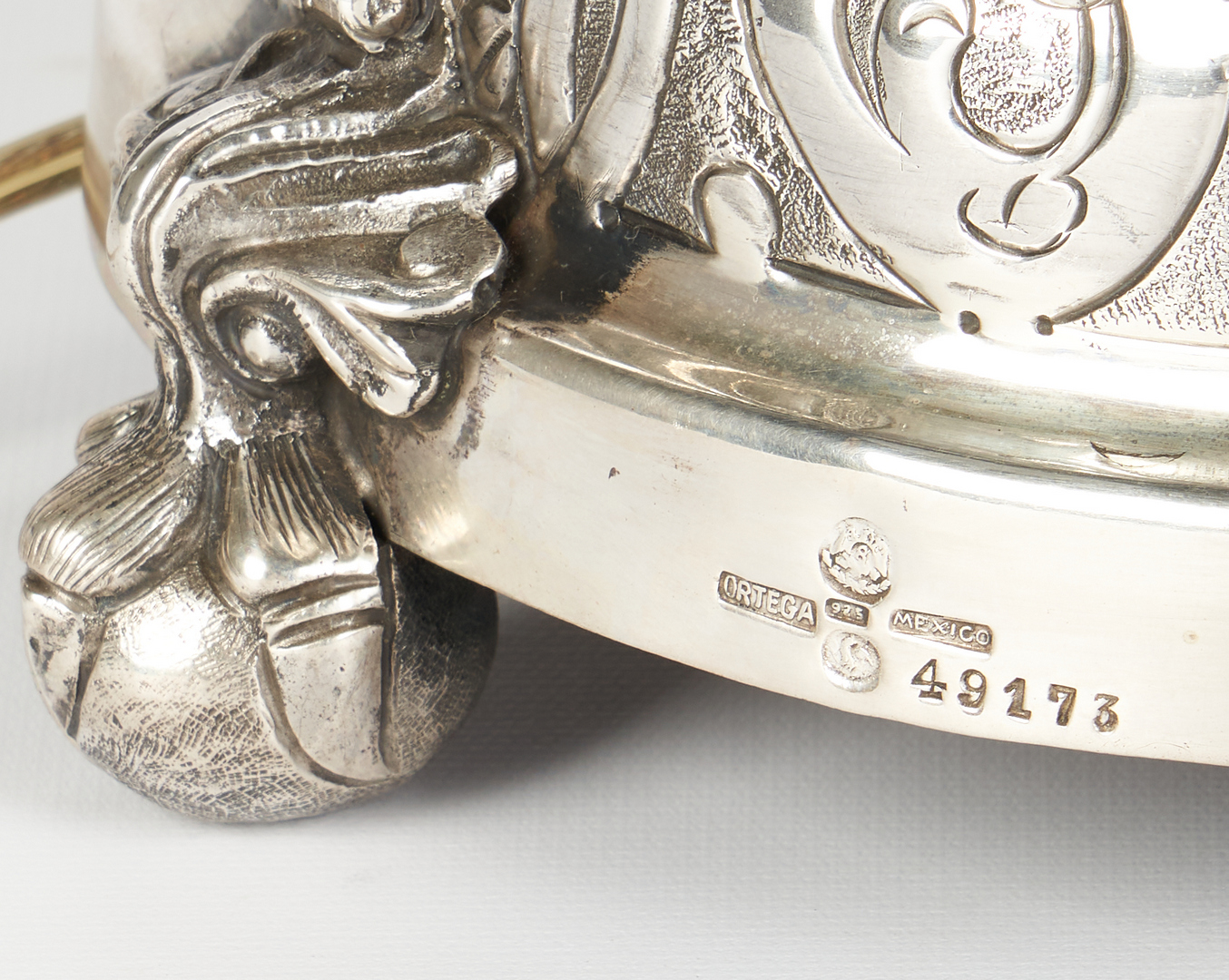 Lot 519: Alfredo Ortega & Sons, Mexican Sterling Lamp