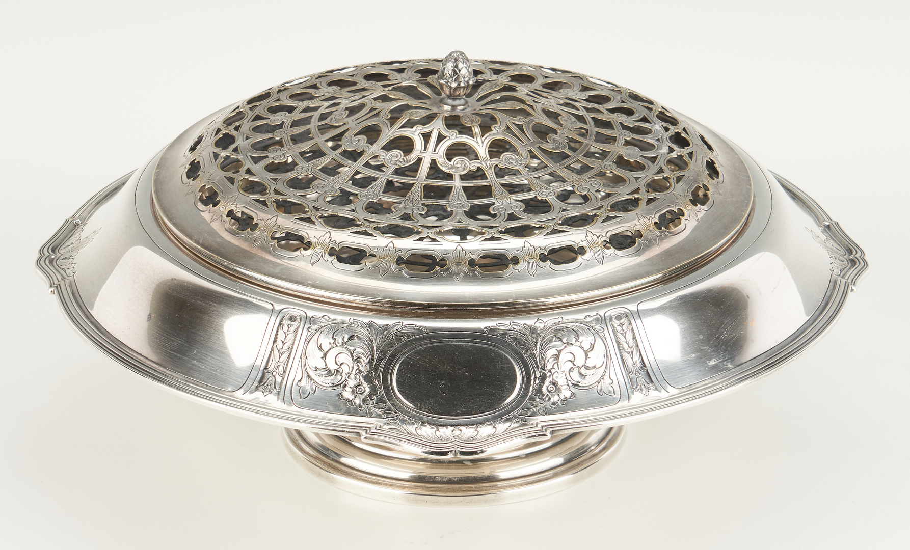 Lot 523: Gorham Sterling Centerpiece with flower frog