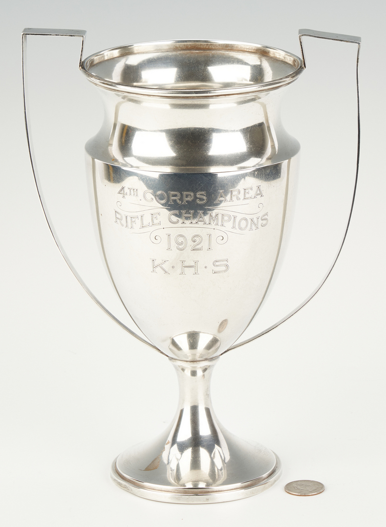Lot 526: 10 Sterling Silver Items, incl. Trophy