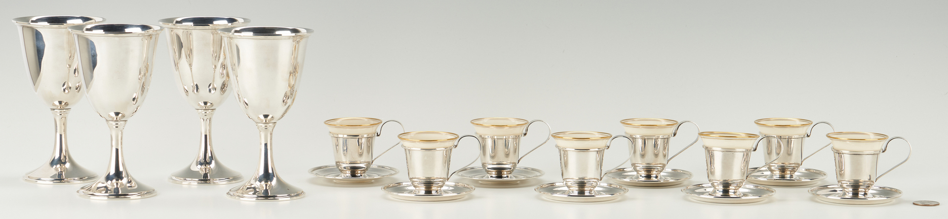 Lot 528: 12 Sterling Beverage Items, incl. Kirk & Son