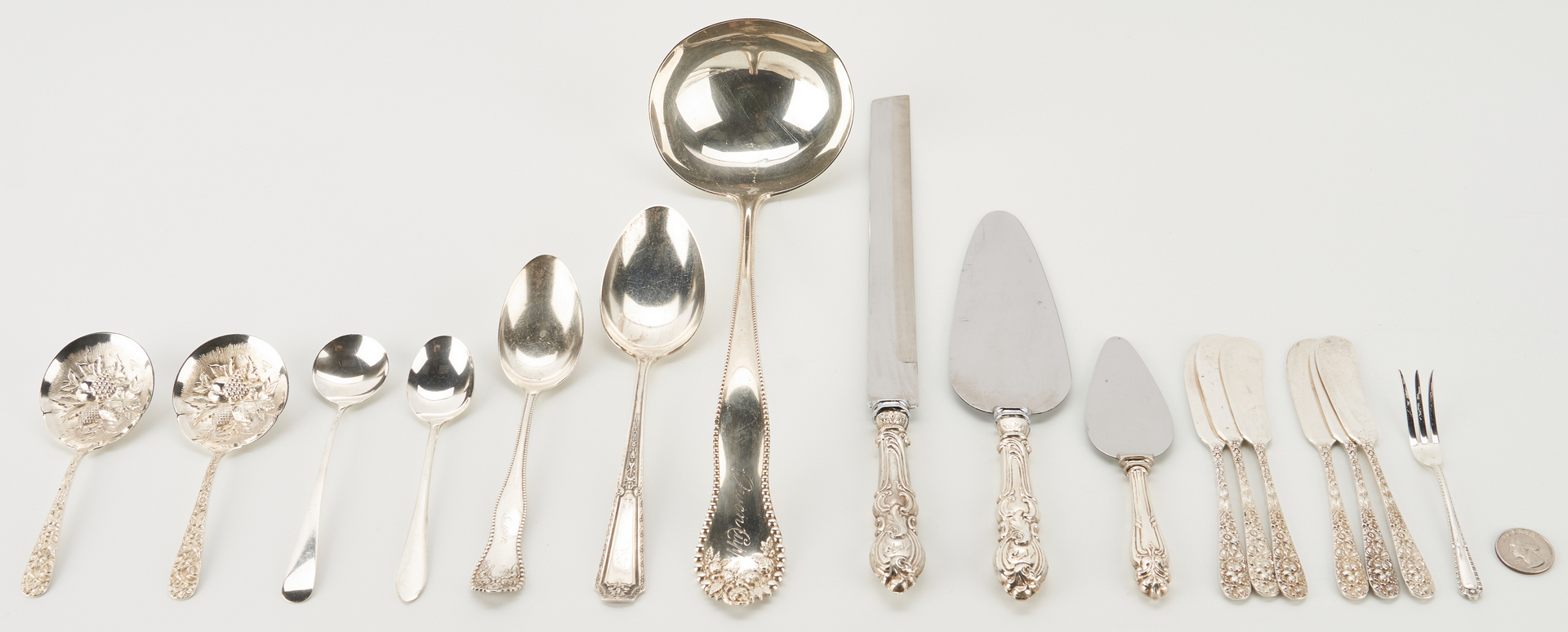 Lot 533: 17 Pcs. Assorted Sterling Silver Flatware