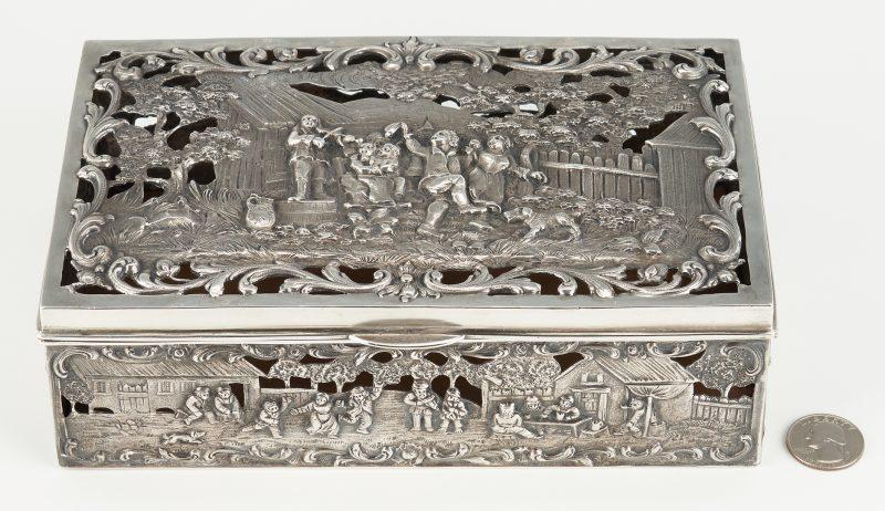 Lot 534: Hanau Style Sterling Silver Box Frame