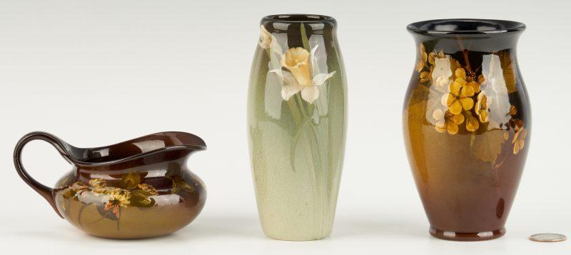 Lot 538: 3 Pcs. Rookwood Art Pottery