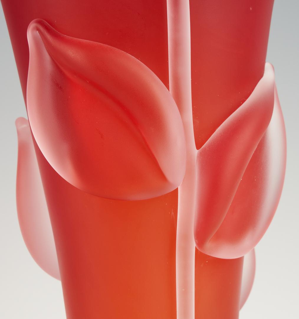 Lot 545: 3 Tommie Rush Art Glass Vases