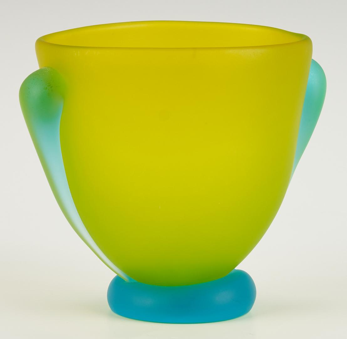 Lot 546: 3 Art Glass Pcs., incl. Richard Jolley, Tommie Rush