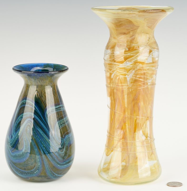 Lot 547: 2 Richard Jolley Art Glass Vases