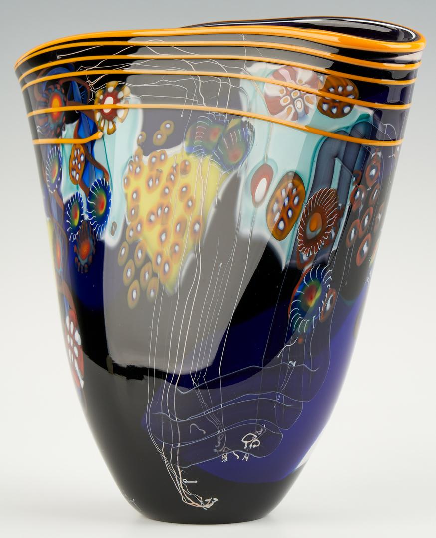 Lot 550: Wes Hunting Art Glass Vase
