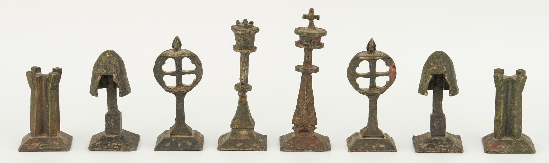 Lot 551: Richard L. Synek/Charles Martel Chess Set