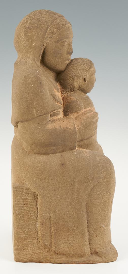 Lot 554: Berta Margoulies Sculpture, Mother and Child