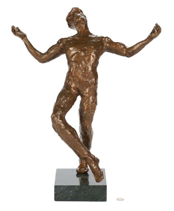 "Lot 555: Anthony Quinn ""Song of Zorba"" Bronze Sculpture"