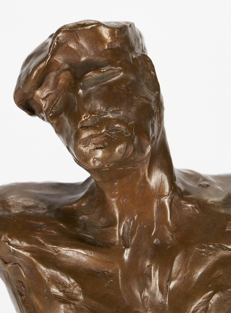 """Lot 555: Anthony Quinn """"Song of Zorba"""" Bronze Sculpture"""