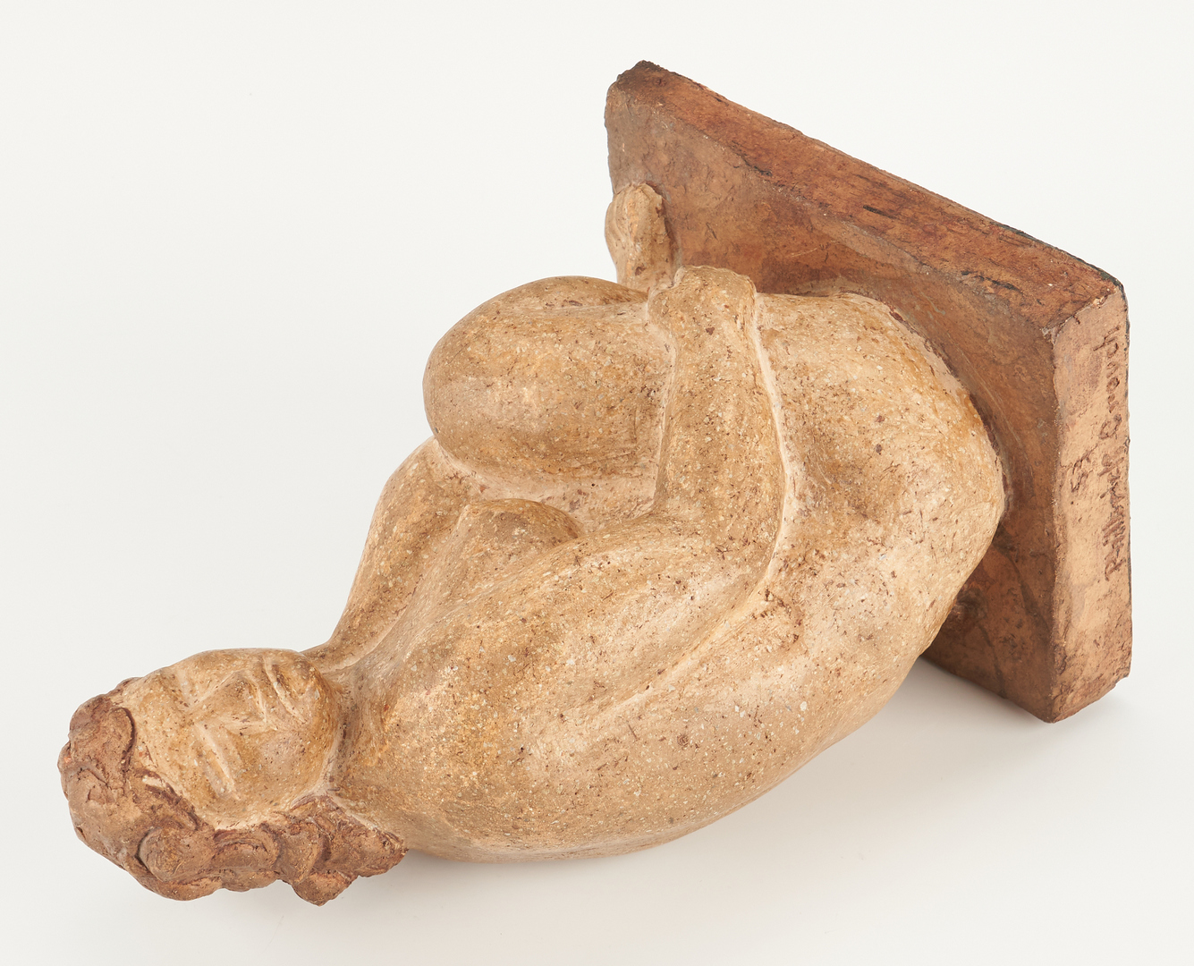 Lot 557: Philbrick M. Crouch Sculpture, Seated Figure