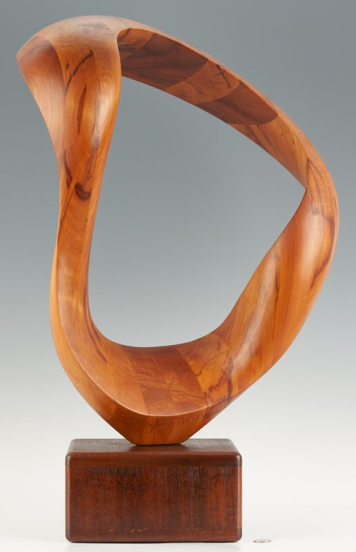 Lot 561: Robert Longhurst Abstract Wood Sculpture
